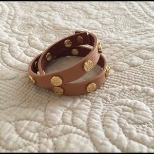 Tory Burch Wrap Rivet Bracelet